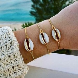 Jewelry - 5 for $25 Gold Color Chain Shell Charm Bracelet